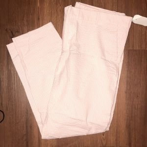 Cropped seersucker pants